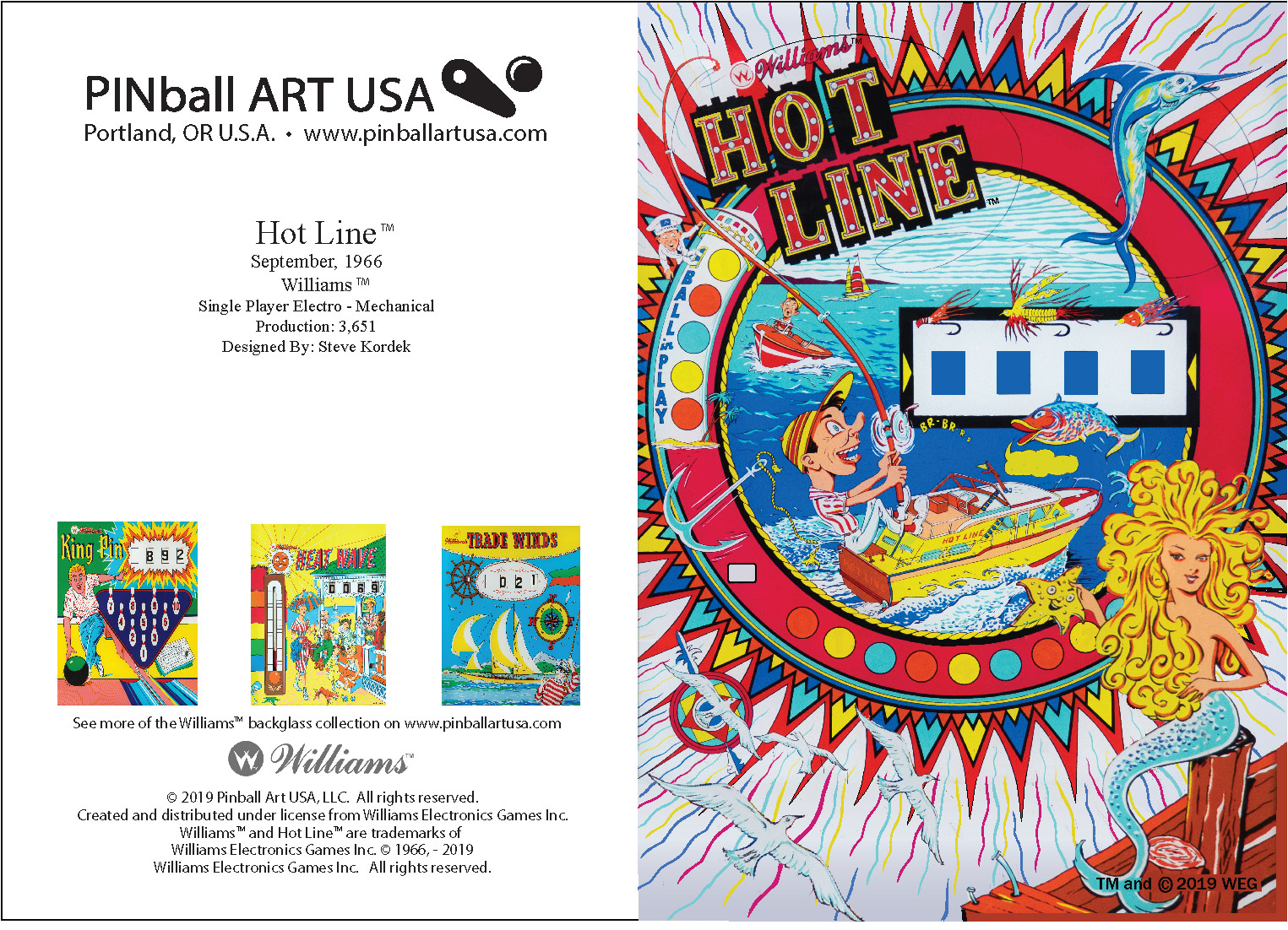 Hot Line full greeting card