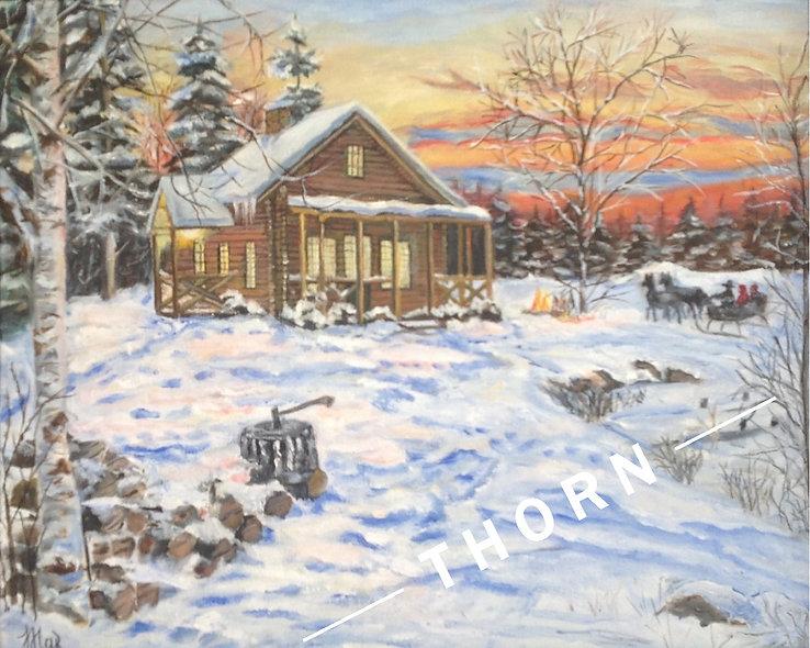 Nice Winter Evening by Inna Makarichev