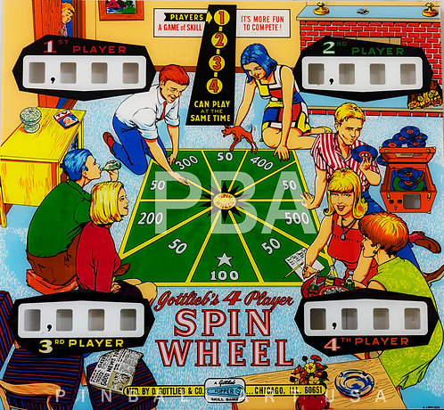 Spin Wheel 1968 Gottlieb
