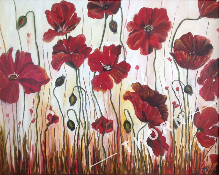 Poppies In the Field by Inna Makarichev