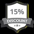 15% Discount Grey