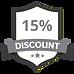 15%のディスカウントグレー