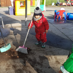 pulizie in giardino