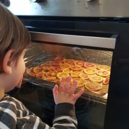 rondelle di arancia in forno