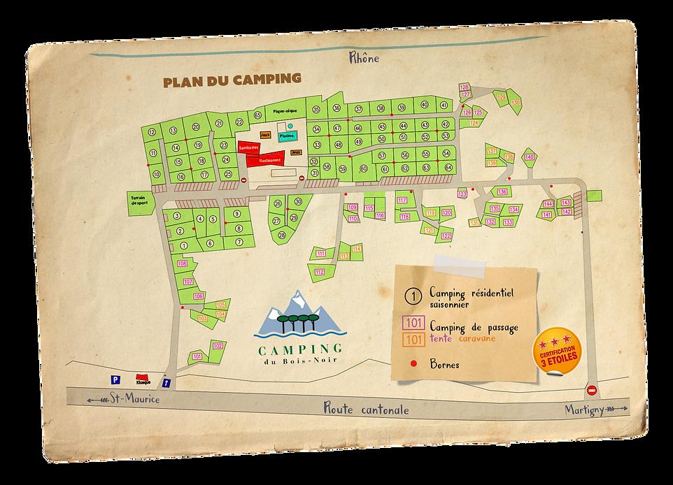 Plan du camping