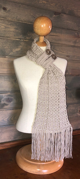 Amelia Buttoned Scarf