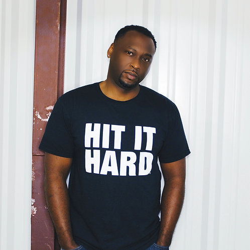 Hit It Hard Short Sleeve Unisex Tee - Black