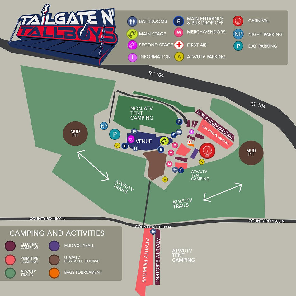Tailgate N' Tallboys 2020 Map