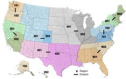 USA Climbing Regions + Divisions