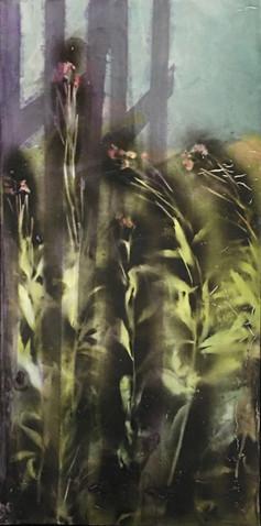 Rasvern, 2018, Acrylic,Spray Paint, Canvas, 90 x 50 cm