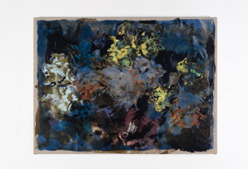 GIVERNY, 2019, acrylic on canvas, 40 x 58 cm, foto: Andreas Dyrdal