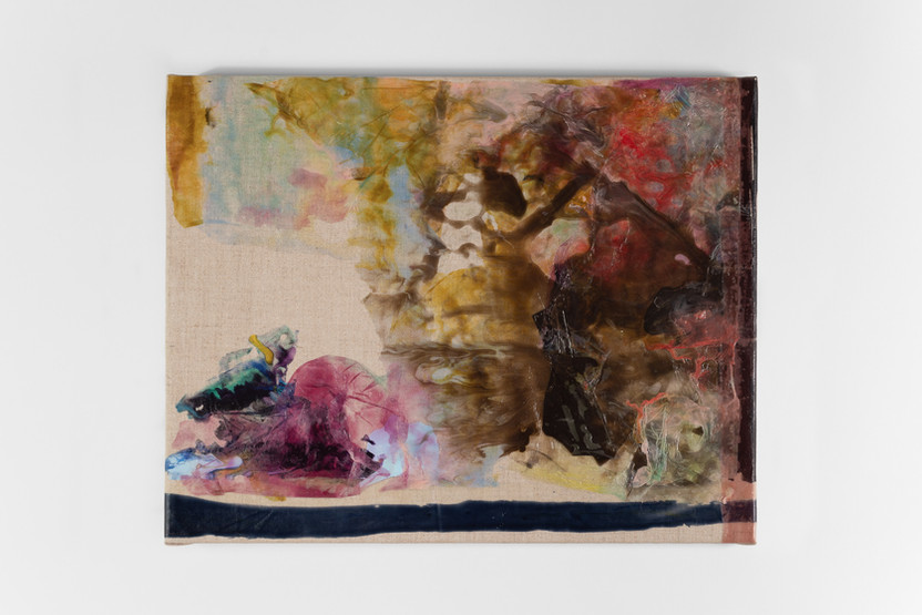 UNTITLED, 2019, acrylic on canvas, 30 x 38 cm, foto: Andreas Dyrdal