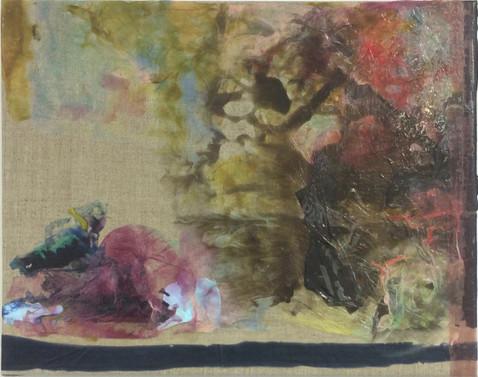 Uten Tittel, 2016 Acrylic, Canvas, 44 x 60 cm