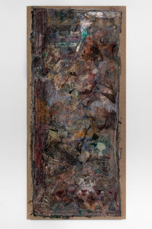 UNTITLED, 2013, acrylic on canvas, 120 X 55 cm, foto: Andreas Dyrdal