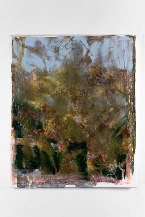 UNTITLED, 2019, acrylic on canvas, 41 x 46 cm, foto: Andreas Dyrdal