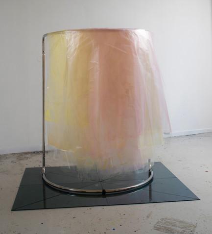 Tranciennt, 2015 Acrylic, Plastic, Plexi, Magnet, Shop Rack, 150 x 100 x 75 cm