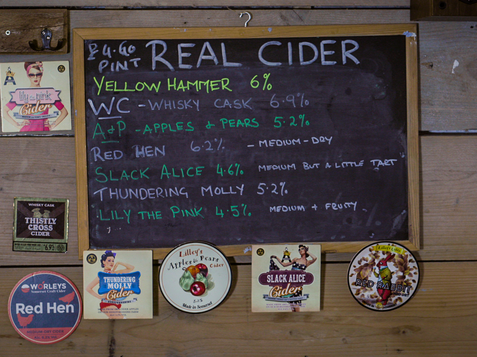 Range of craft ciders