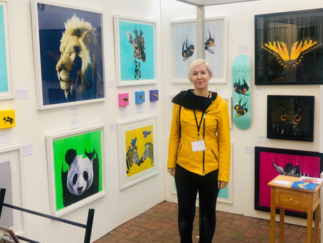 Last Artist Art Fair this year at Sussex Art Fairs at Goodwood Racecourse and an Announcement!