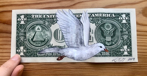 D for Dove (A-Z Birds on Native Currency Series)