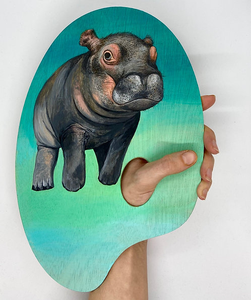 Nature is the True Artist (Baby Hippo)