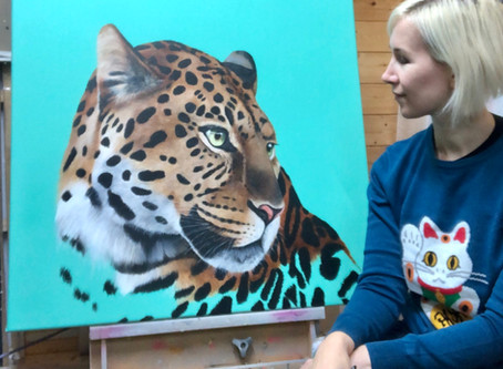 New Leopard Painting