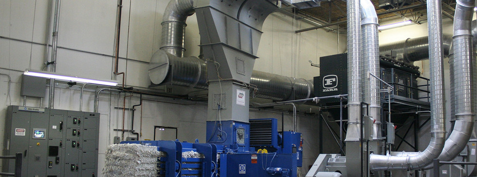 A separator over a baler in a print operation
