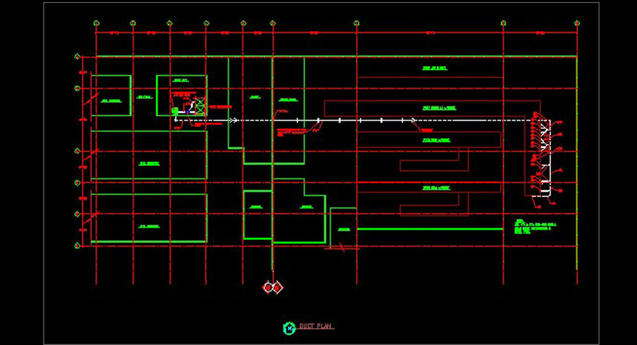 A direct mail trim collection system schematic