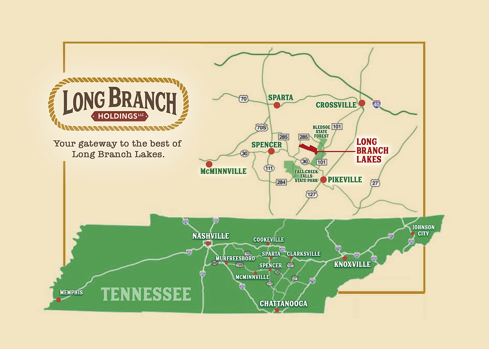 Long Branch Lakes Location