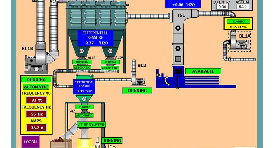 A press trim collection schematic