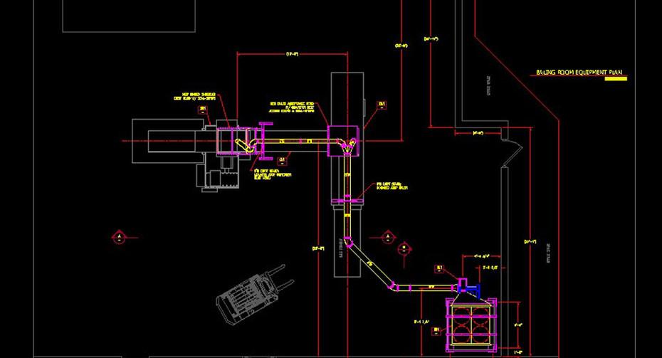 A document destruction trim collection system schematic