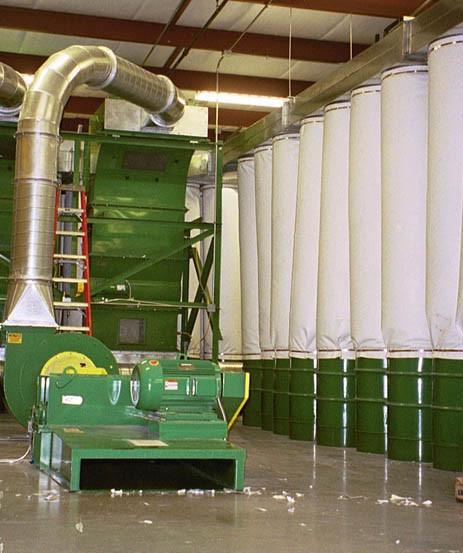 Economical sock drop filters with floor sweep and trim separators