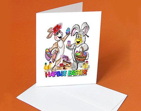 Easter Card (Buddy & Jackie Rabbit)