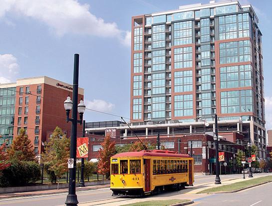 Trolley in Downtown Little Rock