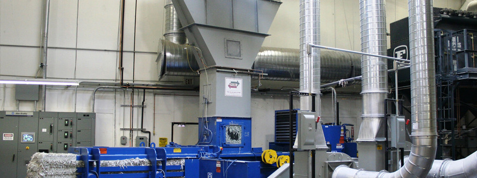 A trim collection system in a conventional printing operation