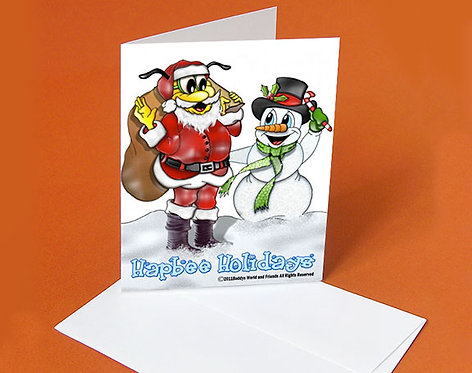 Christmas Card (Buddy Claus & Snowman)
