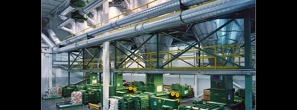 A four-grade segregated trim collection system in a folding box operation