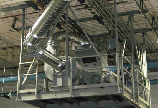 G.F. Puhl sells space-saving ceiling mounted fans and separators