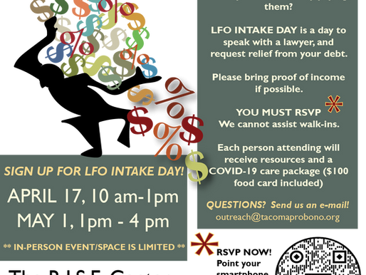 LFO Clinic sign-ups were offered in Pierce County!