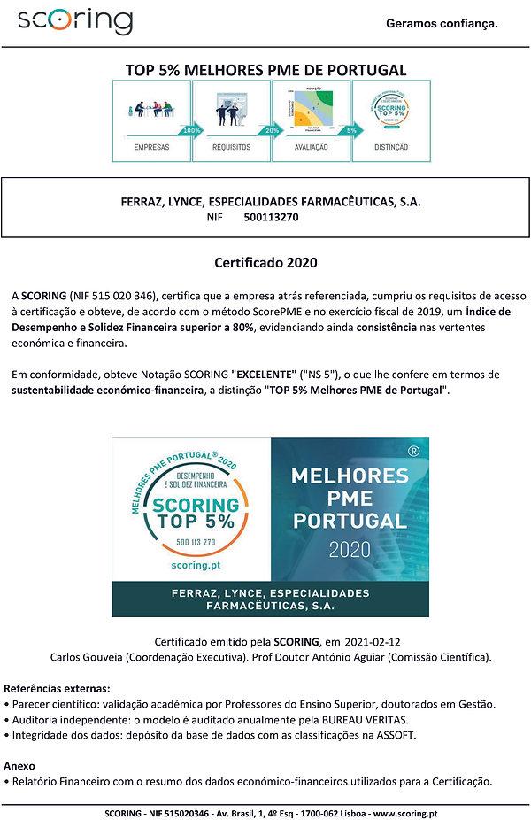FERRAZ - 500113270 - CERTIFICADO TOP 5 2