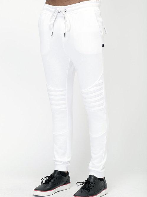 RIPD Art Wear Biker Style Joggers - White