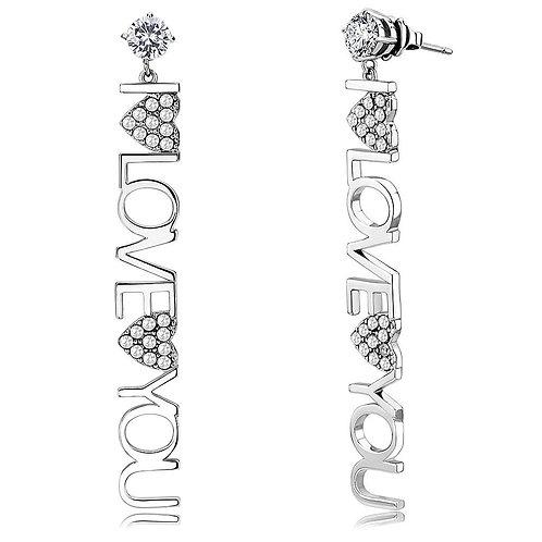 RIPD Art Wear Stainless Steel Cubic Zirconia Earrings