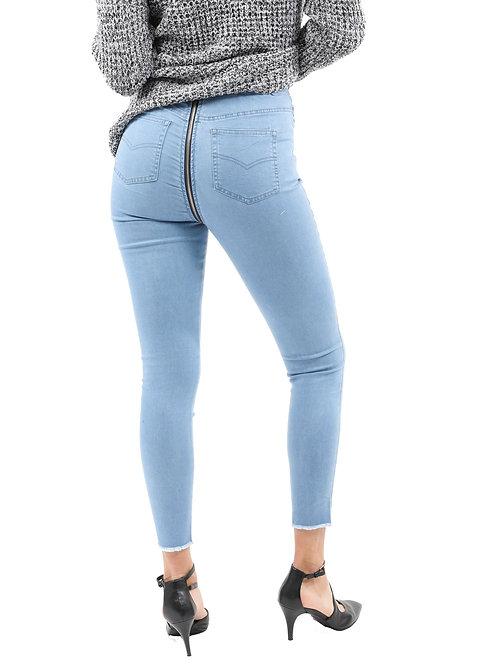 RIPD Art Wear Back Zip Skinny Jeans