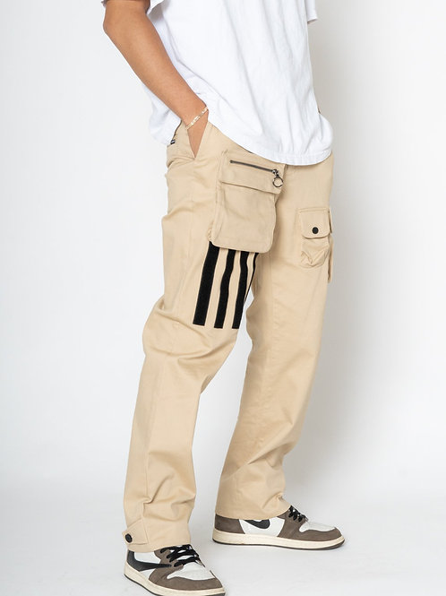 RIPD Art Wear Cargo Pants with Removable Pocket - Khaki