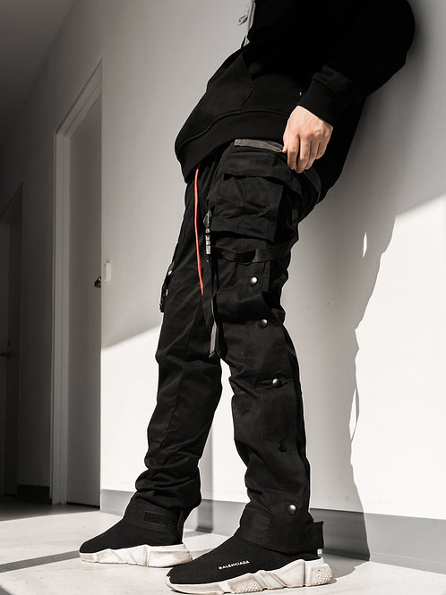 RIPD Art Wear Strap Cargo Pants - Black
