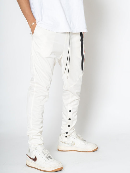 RIPD Art Wear Snap Track Pants - White