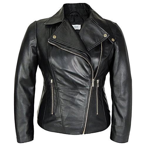 RIPD Art Wear Asymmetric Leather Jacket
