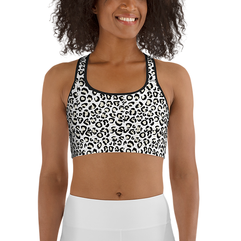 RIPD Art Wear Cheetah Print Sports Bra