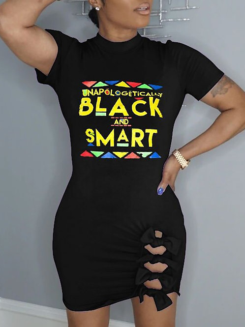 RIPD Art Wear Unapologetically Black & Smart Dress