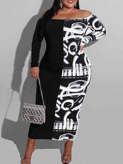 RIPD Art Wear ColorBlock Maxi Dress