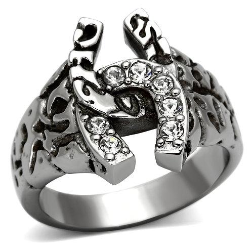 RIPD Art Wear Stainless Steel Horseshoe Ring